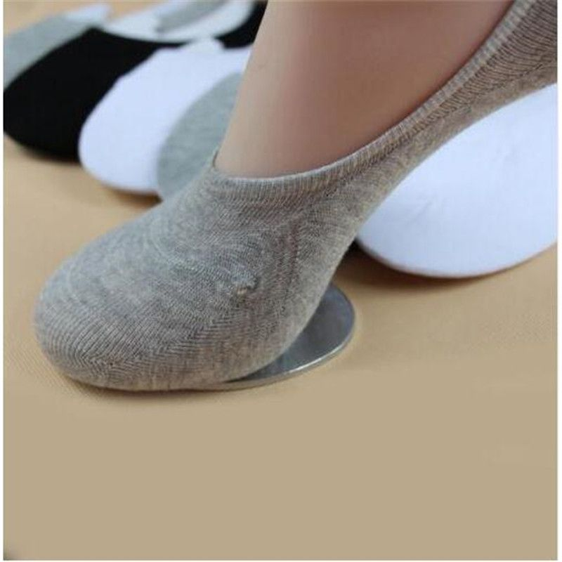 6 Pairs Women Men No Show Socks Cotton Invisible Loafer Boat Low Cut Non Slip