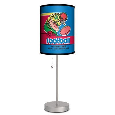 "Lamp-In-A-Box Topps Football 1979 Bubble Gum Wrapper 20"" Table Lamp"