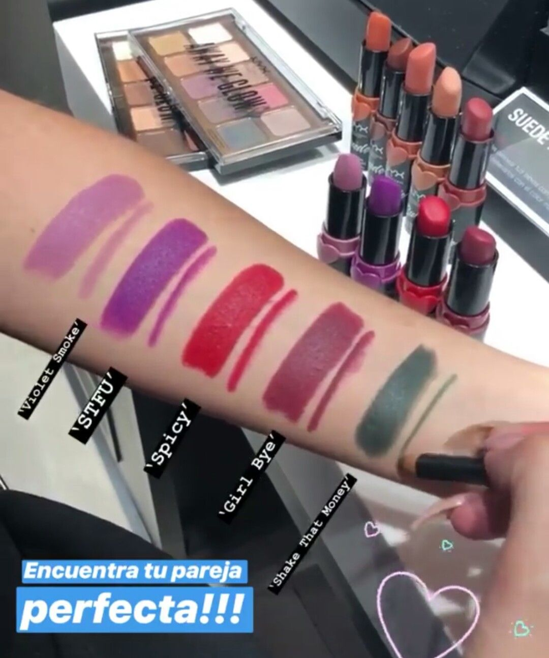 Nyx Suede Matte Lipsticks Swatches Nyx Lips Makeup Inspo