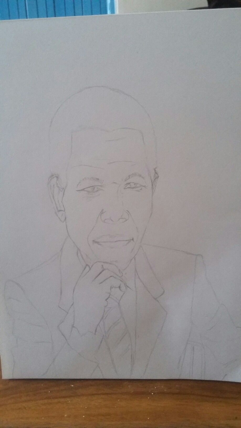 My new pencil sketch in its initial stages