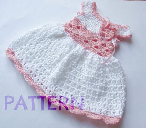 Instant Download PDF crochet pattern Baby dress por paintcrochet