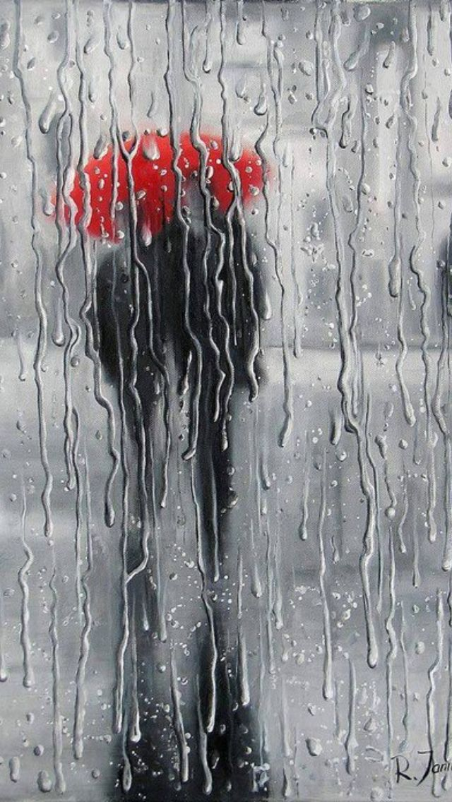 Analysis Of The Red Umbrella Painting