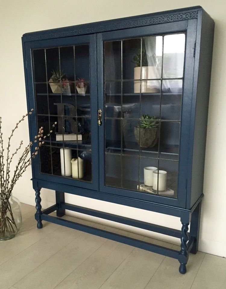 Best Display Cabinet Farrow And Ball Stiffkey Blue Blue 400 x 300