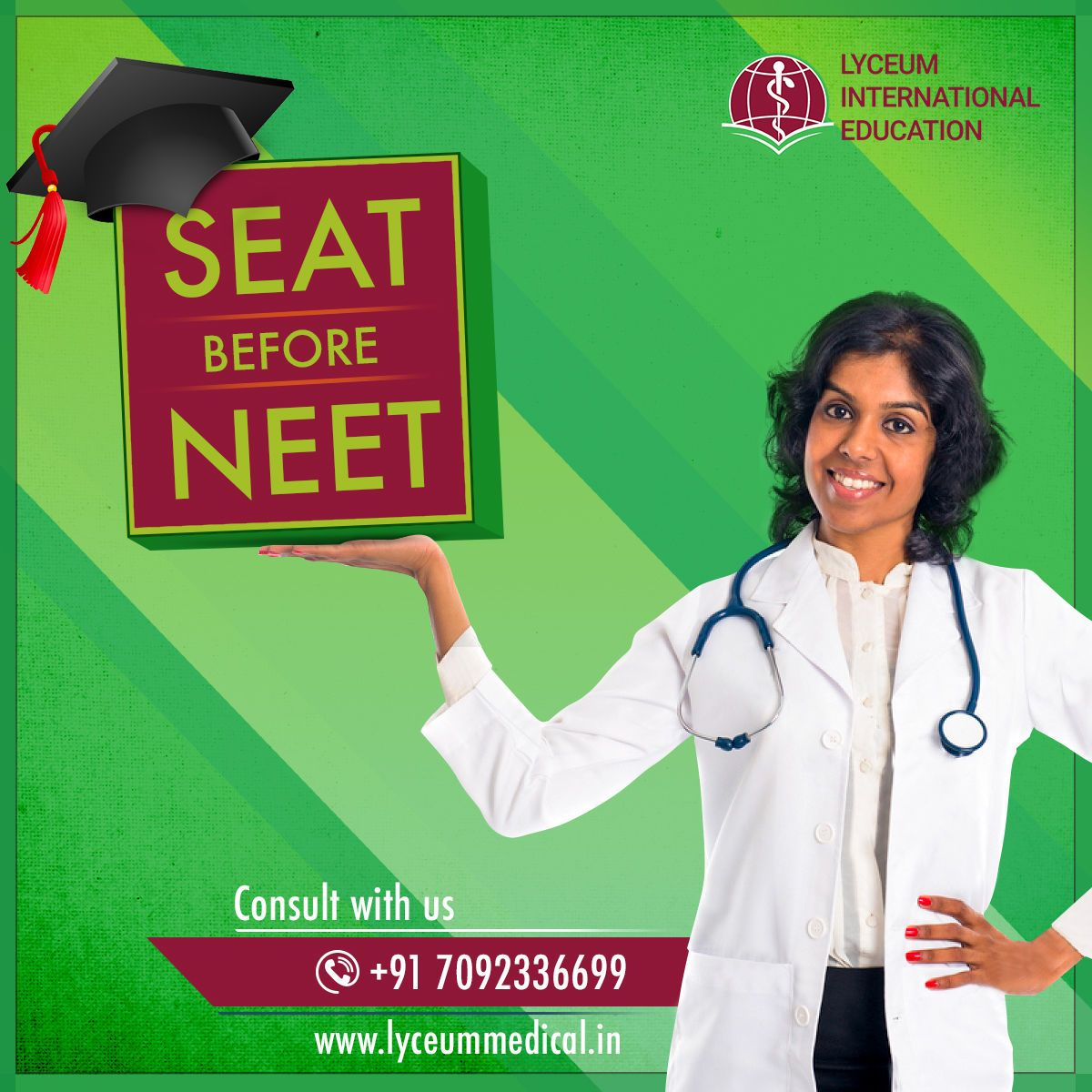 Get MBBS seat and then you can face the NEET!! Lyceum