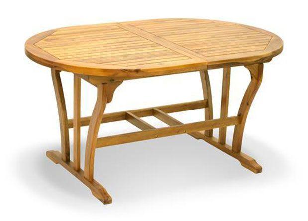 prezzi e offerta vendita online tavolo da giardino ovale legno ... - Tavoli Da Giardino In Legno Offerte