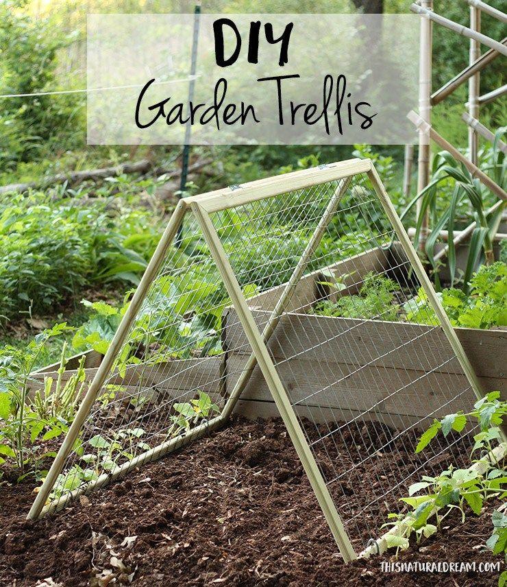 diy garden trellis - how to build a cucumber trellis | Garden diy ...