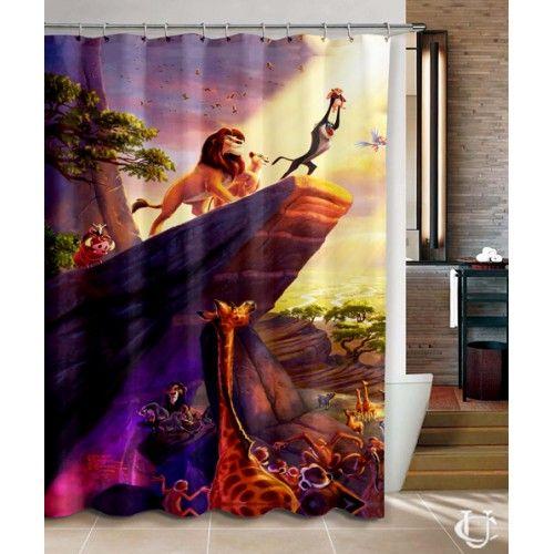 Hakuna Matata Lion King Disney Shower Curtain Disney Shower