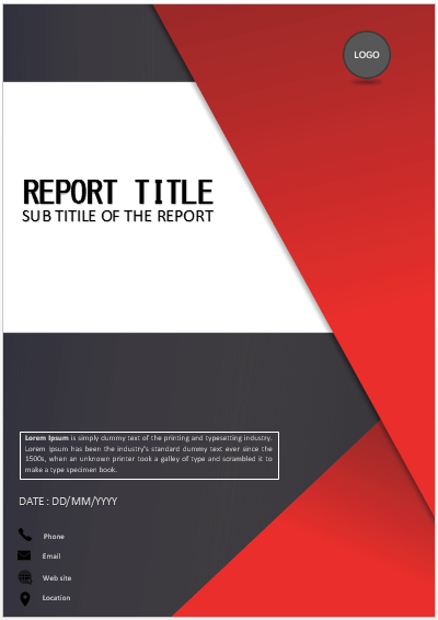 Cover Page Red And Black Tiles Cover Page Cover Pages Cover Pages Cover Page Template Powerpoint Design Templates