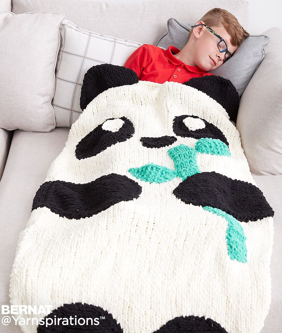 Free Knitting Pattern for Panda Snuggle Sack - Easy pattern from ...