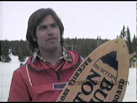 Jake Burton interviewed about his snowboard at the first ...