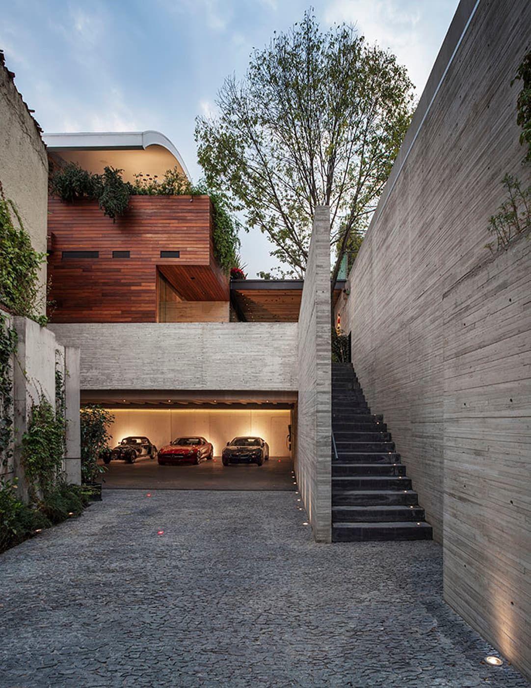 Acceso estacionamiento homify casas modernas concr