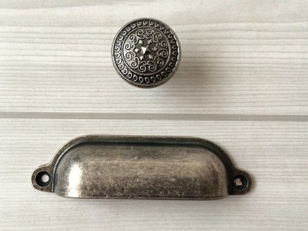 Pin On House, Antique Silver Kitchen Cabinet Handles