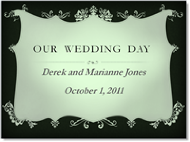 how to create perfect wedding presentations in powerpoint, Powerpoint templates