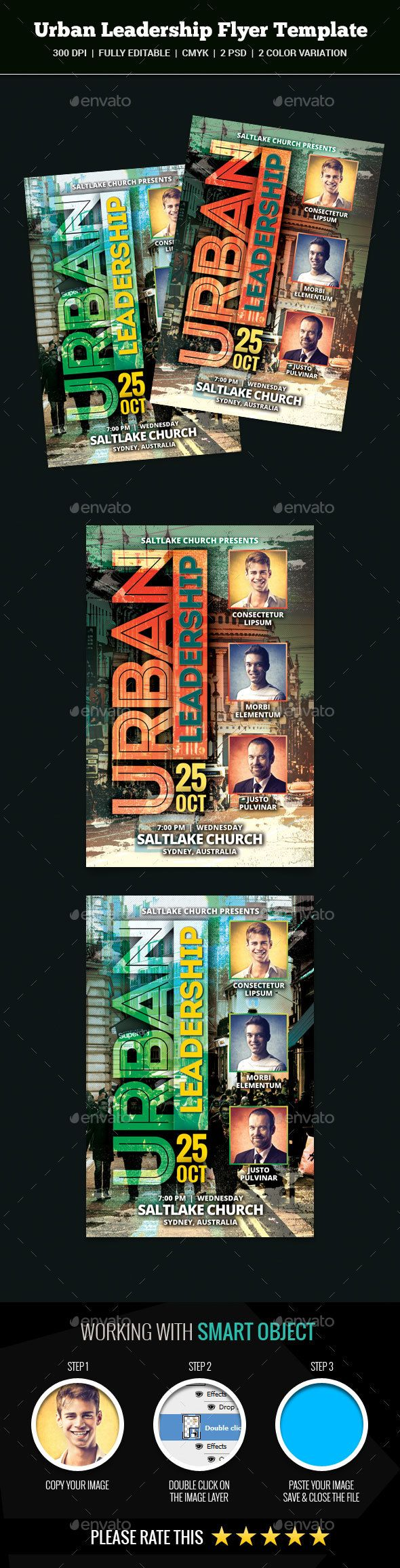 Urban Leadership Church Flyer  Flyer Template Churches And Urban