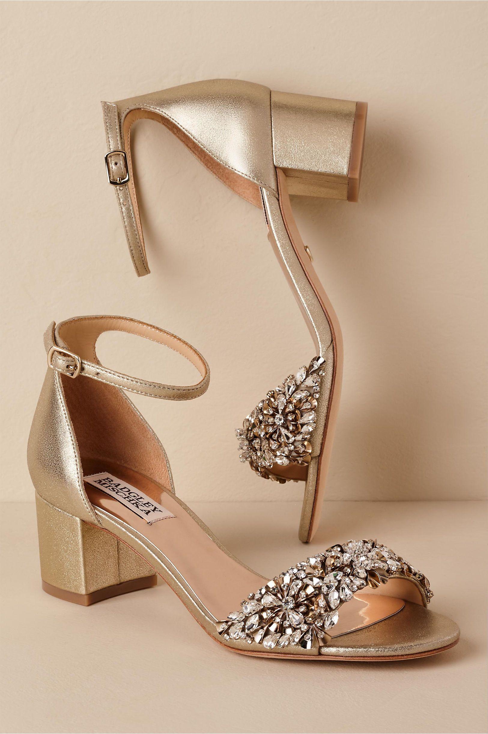 Bhldnus badgley mischka vega heels in neutral wedding pinterest