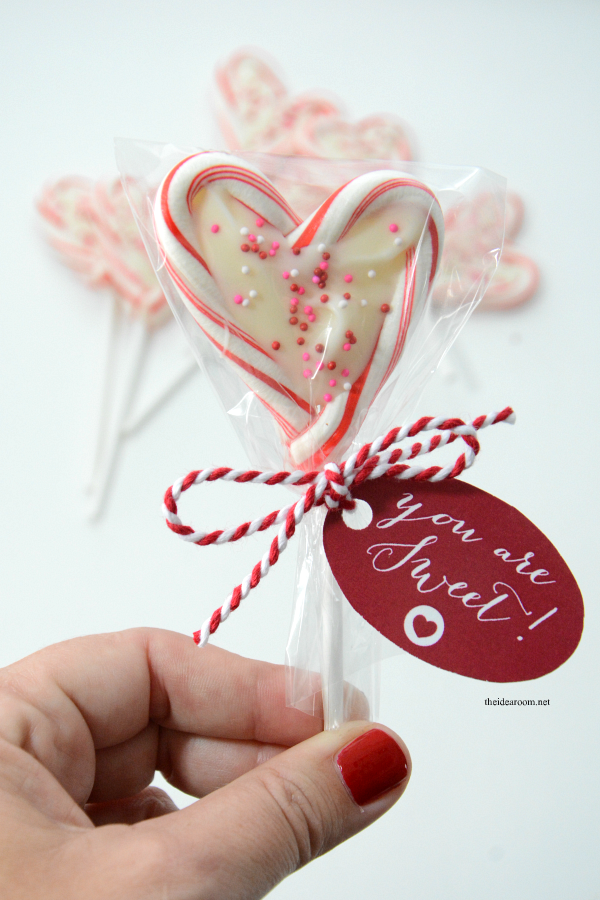 candy cane heart suckers | valentines, friends family and minis, Ideas