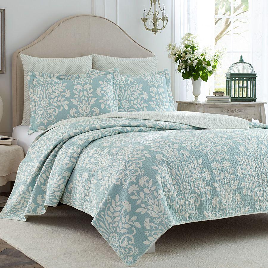 laura ashley rowland blue quilt set beddingstyle laura ashley
