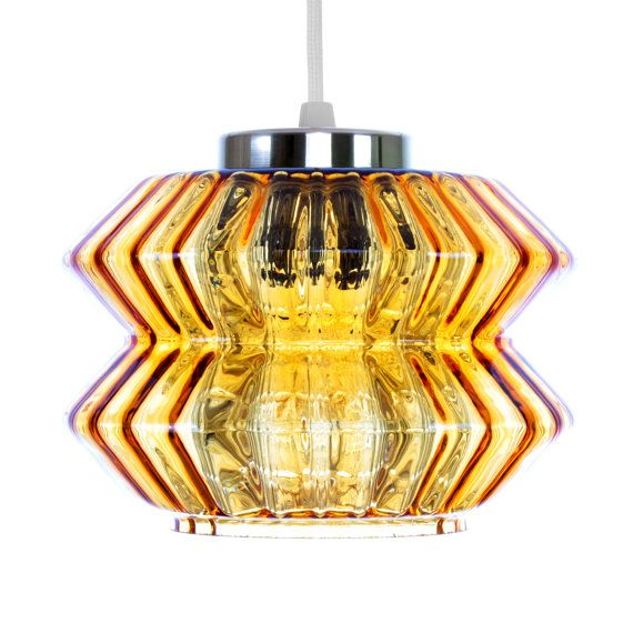 Amber Crystal Glass With Brass Pendant By Carl Fagerlund Amber Crystal Hanging Lamp Glass Pendants