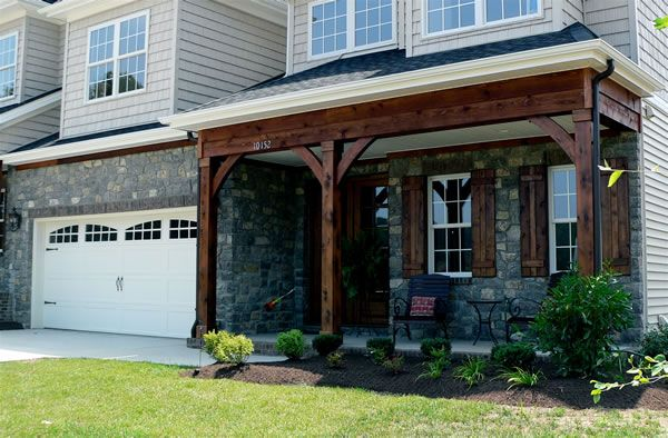 Exposed Front Porch Beam And Cedar Shutters Talk About