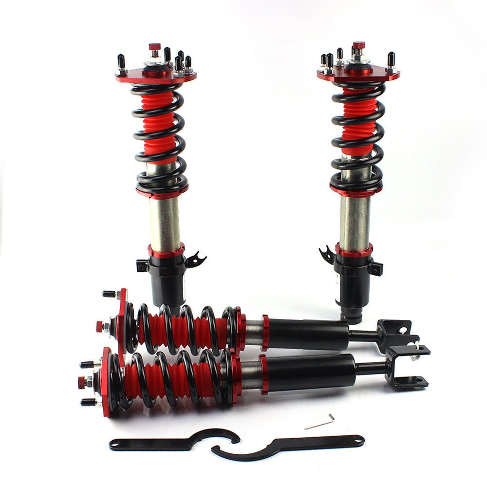 Fits Honda Prelude 1992 2001 Coilover Coil 36 Adjustable Suspension Sway Bar Shock Kit