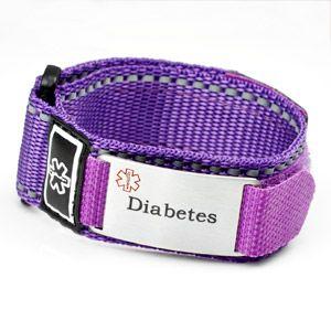 Diabetes Purple Medical Velcro Sport