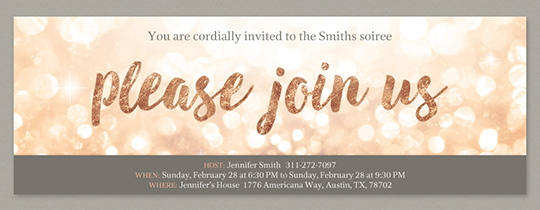 Glitter Join Us Invitation Invitations Legal Drinking Age Text You