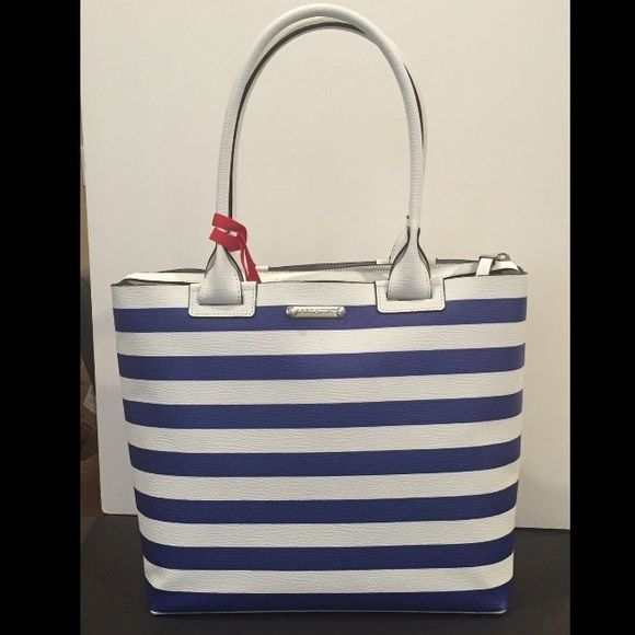Arcadia All Italian Leather Navy Stripe Cruise Bag Boutique My - The-elegance-of-the-arcadia