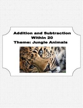 Math Addition & Subtraction Within 20  This package contains 48 pages that introduce and reinforce adding and subtracting within 20 while engaging your students with informative pictures of African Animals along the way. Each picture is labeled with the animal for your students to enjoy as they complete their work.  Mazes and coloring pages are provided along with the addition and subtraction reinforcement.  Answer Key included