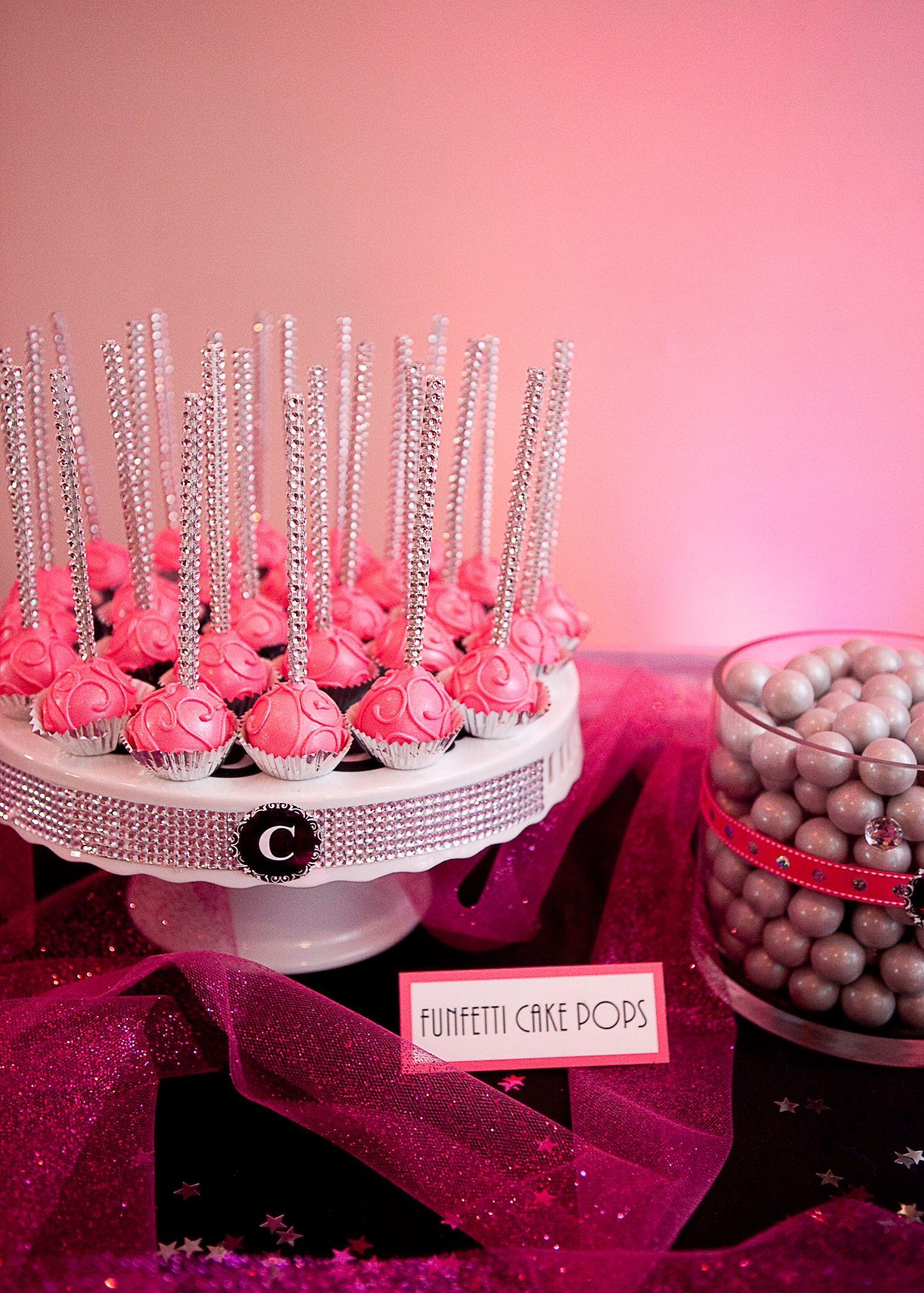 Dessert table funfetti cake pops cake pops funfetti cake