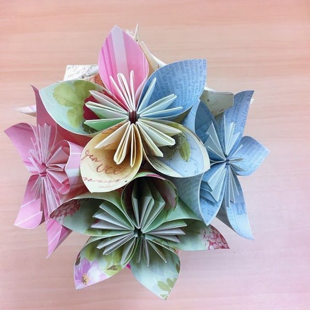 Kusudama paper flower origami and paper folding pinterest eclations papercraft etc my first how to video kusudama paper flower tutorial mightylinksfo