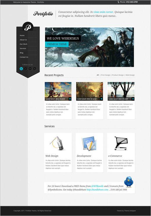 Fresh website design