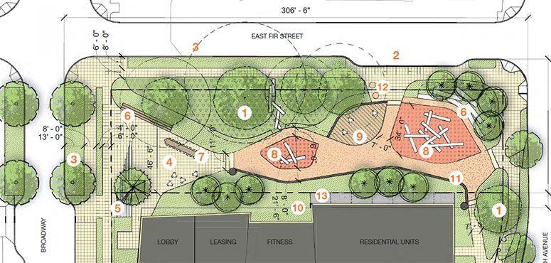 Yesler Terrace Pocket Park What S Happening Community Park Design Parking Design Pocket Park