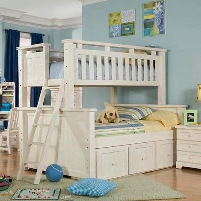 Twin Over Futon Bunk Bed White Wood Google Search