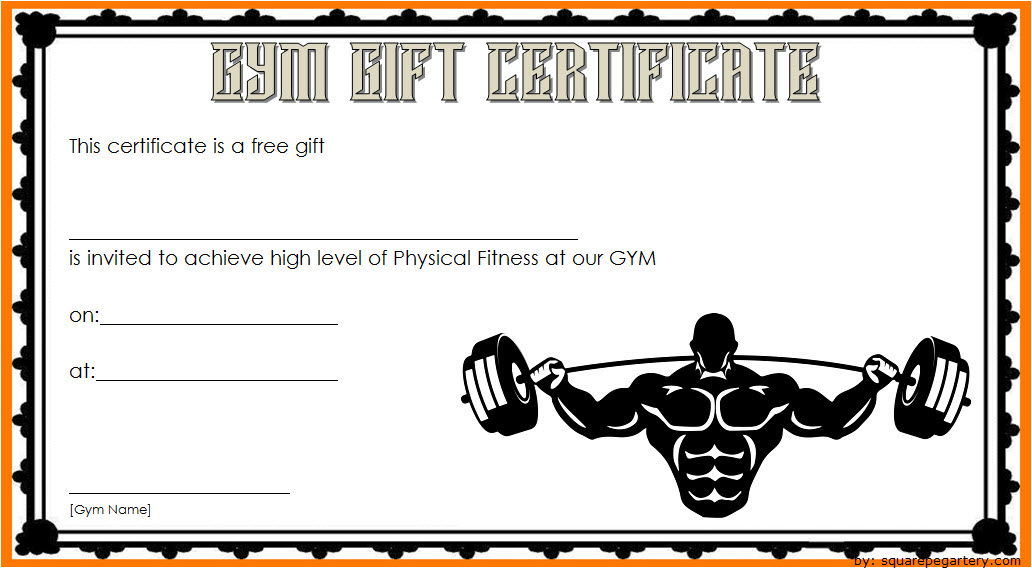Fitness Gift Certificate Template 10 Free Gift Certificate Template Certificate Templates Fitness Gifts