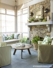 Sunroom..Made in heaven: Fresh bright interior, with playful patterns and textures
