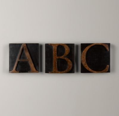 Wooden Block Letters | Letters | Restoration Hardware Baby & Child