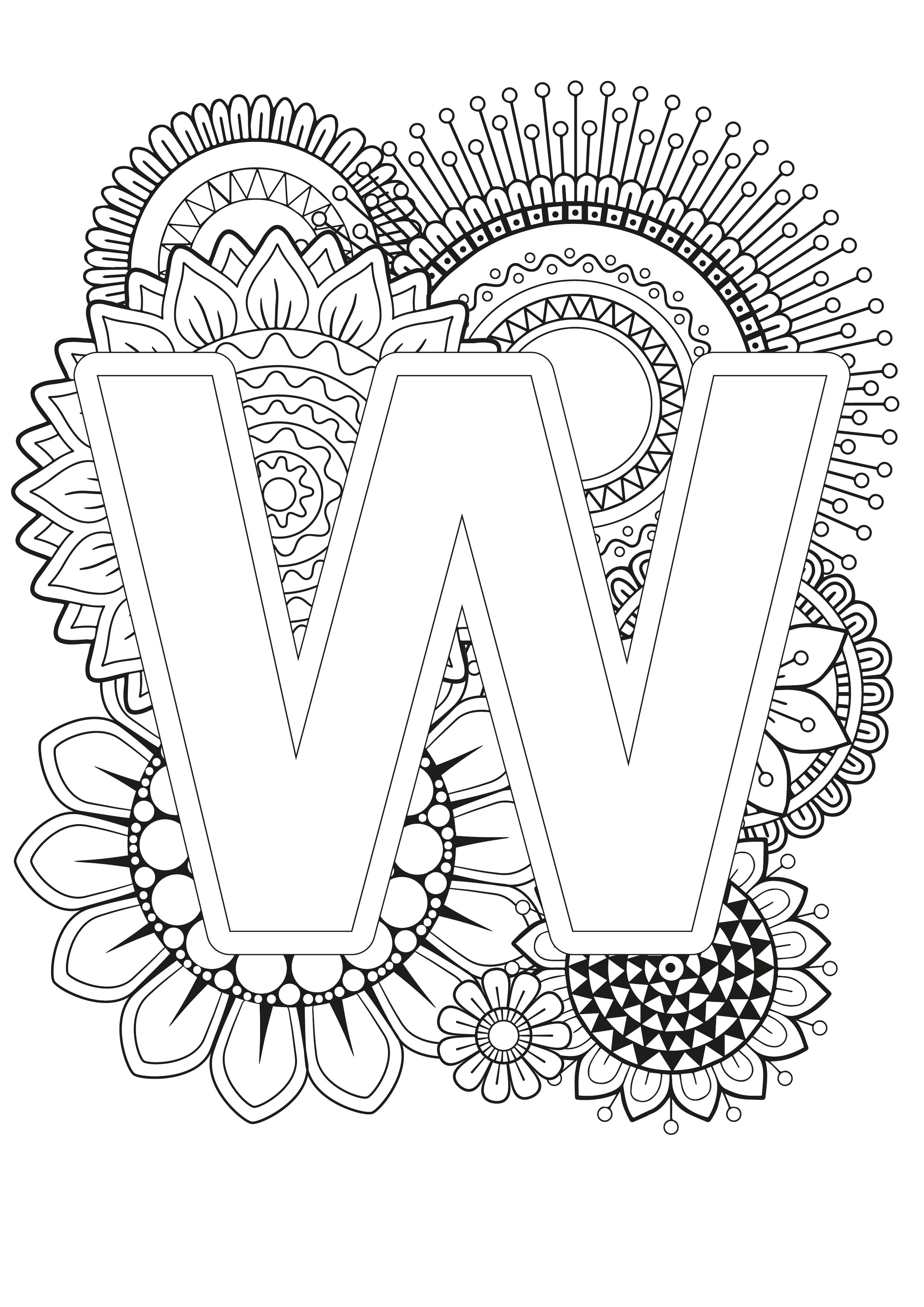 - Mindfulness Coloring Page - Alphabet (With Images) Coloring