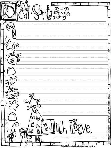 Dear Santa Paper! Letter To Santa TemplateChristmas List TemplateSanta  Letter PrintableChristmas ...  Free Printable Christmas List Template