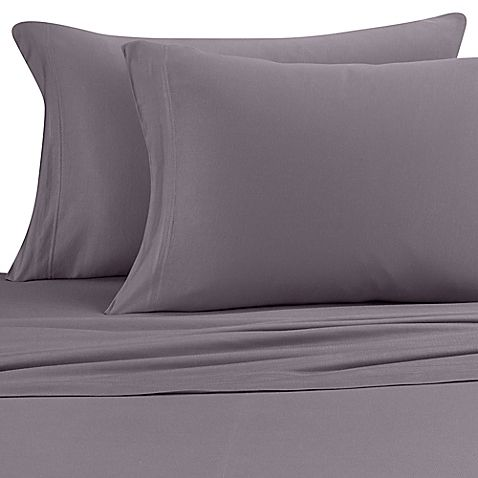 Pure Beech Jersey Knit Modal Full Sheet Set In Charcoal With