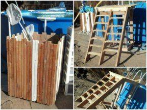 Pallet Pool Deck & Pool Supplies Caddy