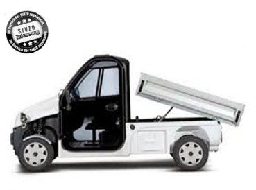 Beckers Golf Cart Handel -   - Ligier - Yamaha - WSM Mitsubishi - E-Z-GO - Club Car - Ligier Be Sun L3 Pritsche nach StVZO mit hydraulischem Kipper NEUFAHRZEUG Elektrofahrzeug / Elektrotransporter