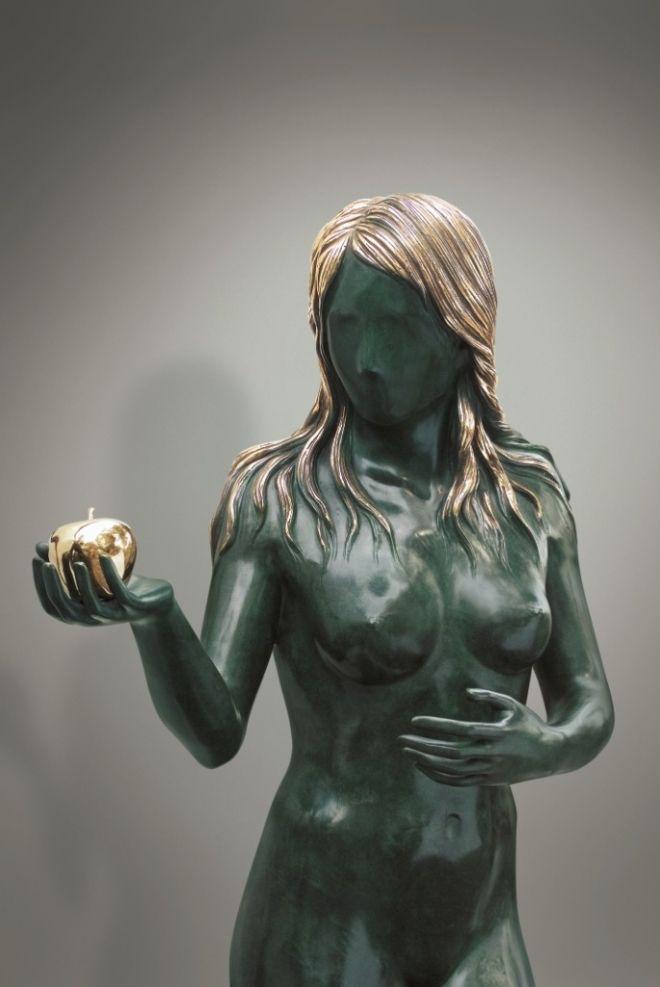 """Detail of Salvador Dali, """"Adam and Eve"""""""