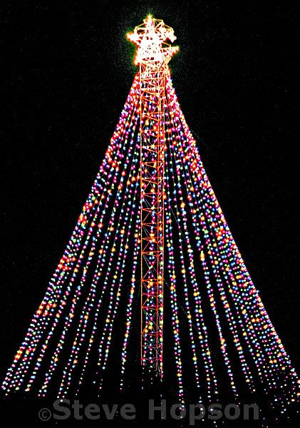 Zilker Park Christmas Tree, Austin Trail of Lights 2012 ...