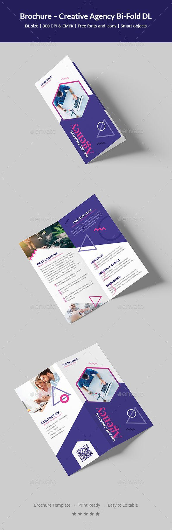 Brochure Creative Agency BiFold DL Brochure Templates - Dl size flyer template