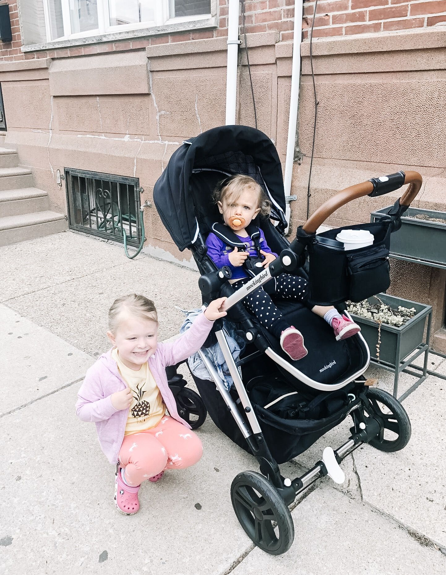 Our new favorite stroller, Mockingbird. It's cute, city