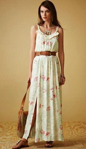 Vestido longo simples para baixinhas