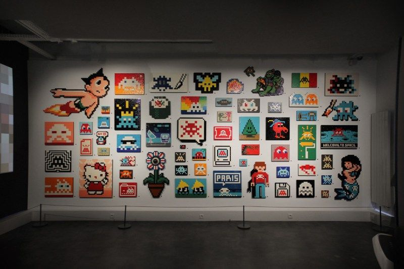 Invader Opens Video Game-Inspired Solo Exhibition in Paris