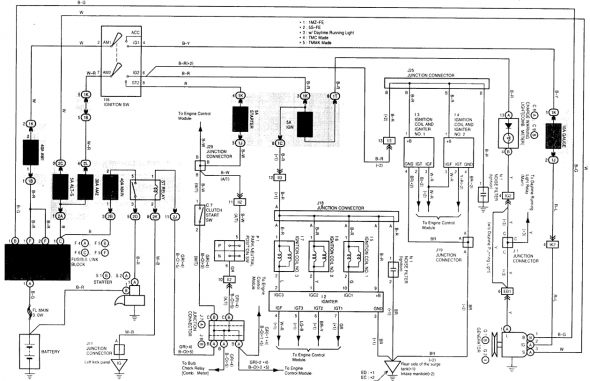 1992 Toyota Camry Electrical Wiring Diagram