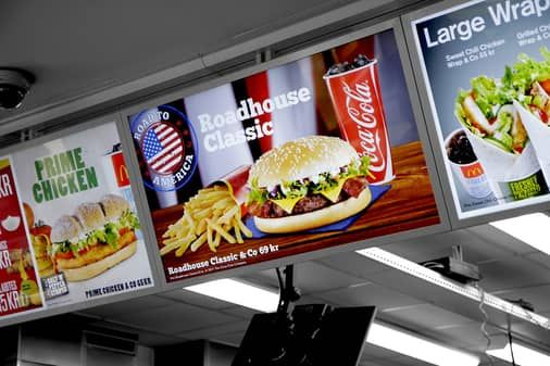 mcdonald s digital signage by visual art menu board options rh pinterest com
