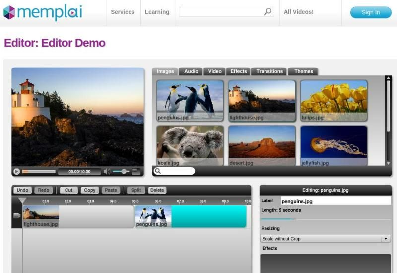 Editor profesional de fotos online 24